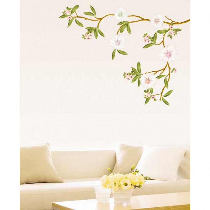 Wandsticker weißer Mandelblütenzweig