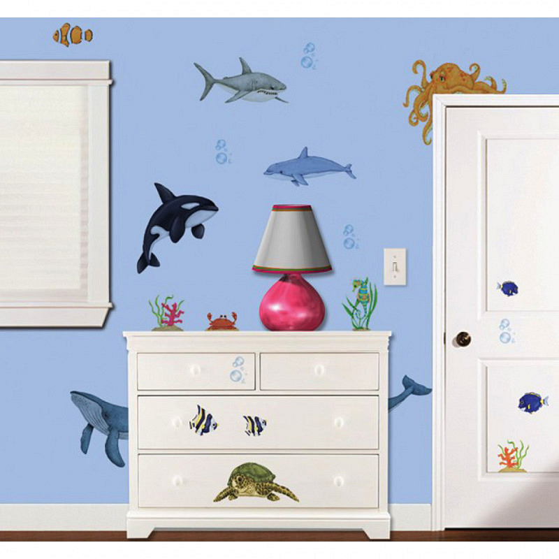 Borders Unlimited Room FX Wandsticker Unterwasser Meerestiere