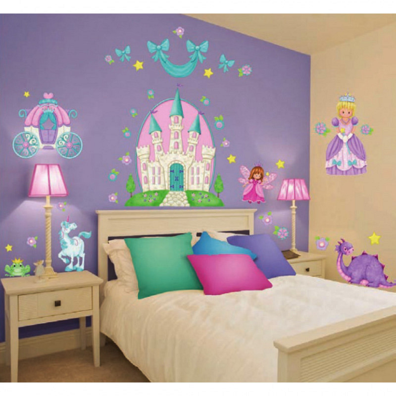 Borders Unlimited Wandsticker kleine Prinzessin