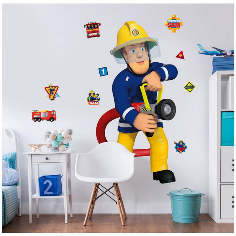 Wandsticker Feuerwehrmann Sam XXL