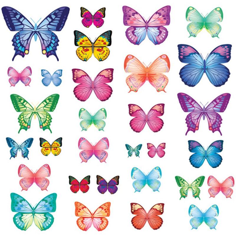 Wandsticker bunte lebhafte Schmetterlinge