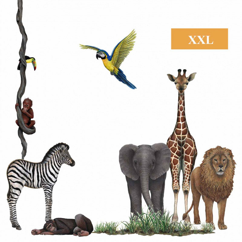 Wandsticker Dschungel Wildlife Set1
