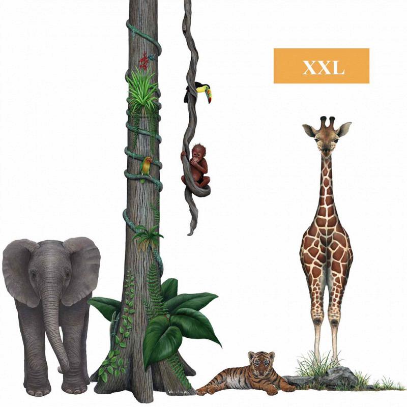 Wandsticker Dschungel Wildlife Set2
