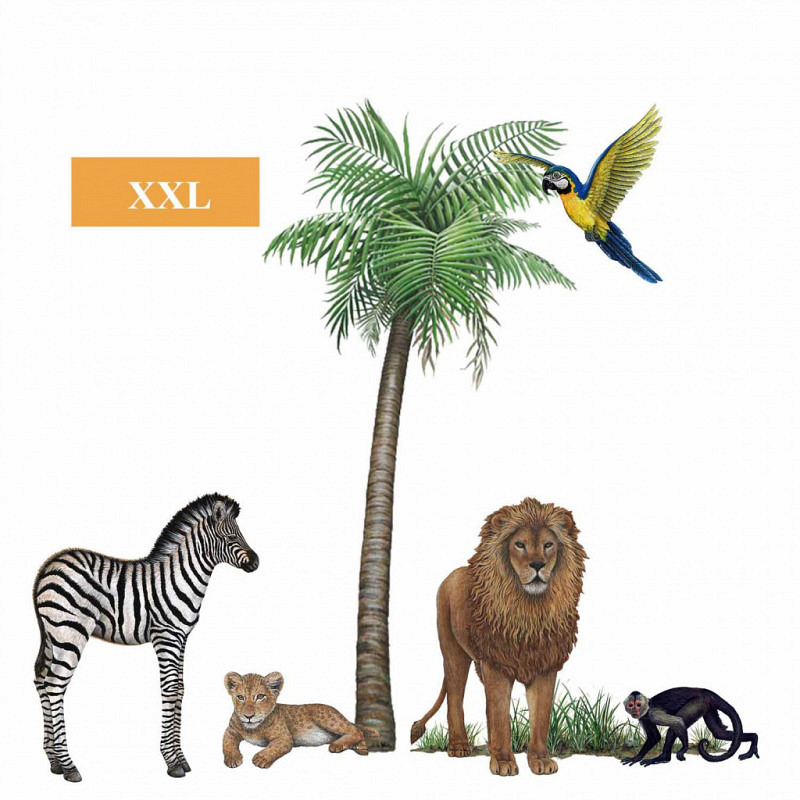 Wandsticker Dschungel Wildlife Set3