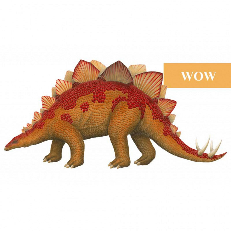 Wandsticker Dinosaurier Stegosaurus WOW