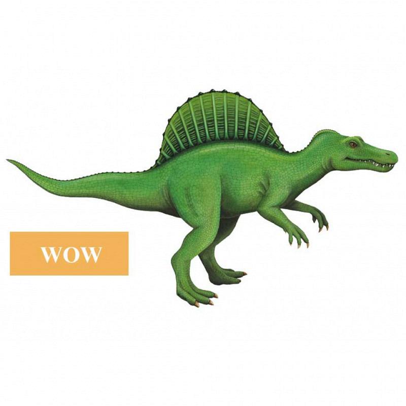 Wandsticker Spinosaurus WOW