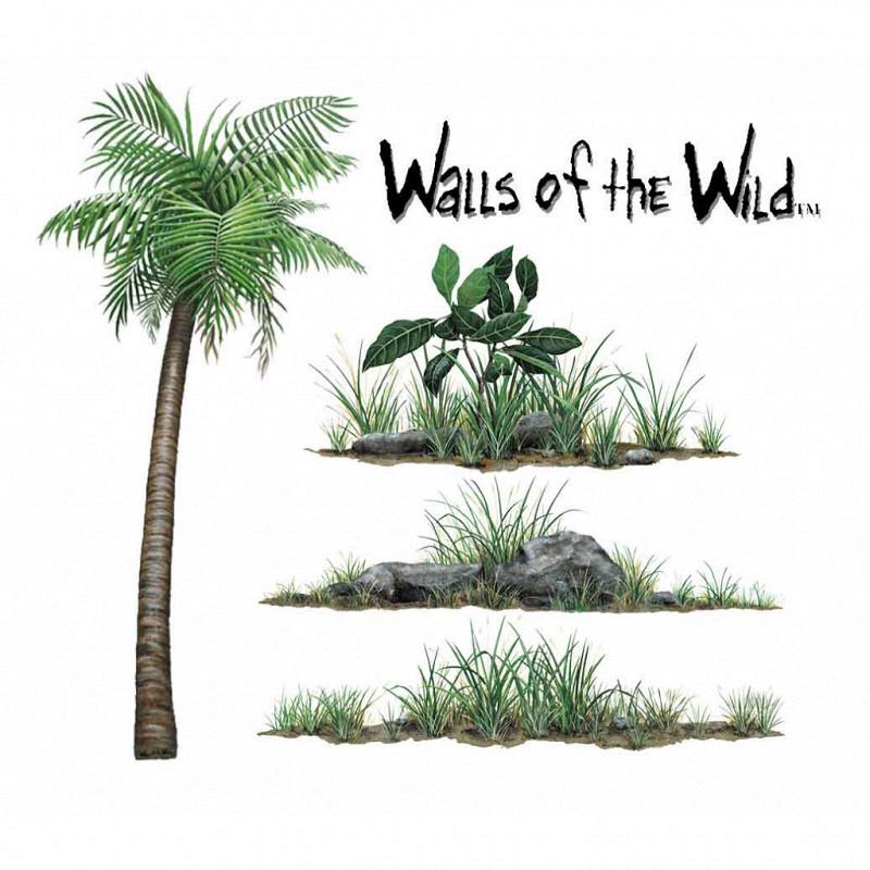 Wandsticker Dschungelpflanzen Set klein