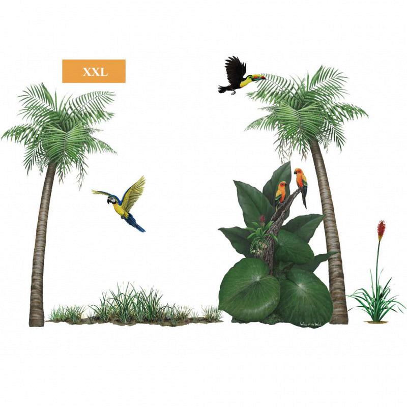Wandsticker tropischer Regenwald