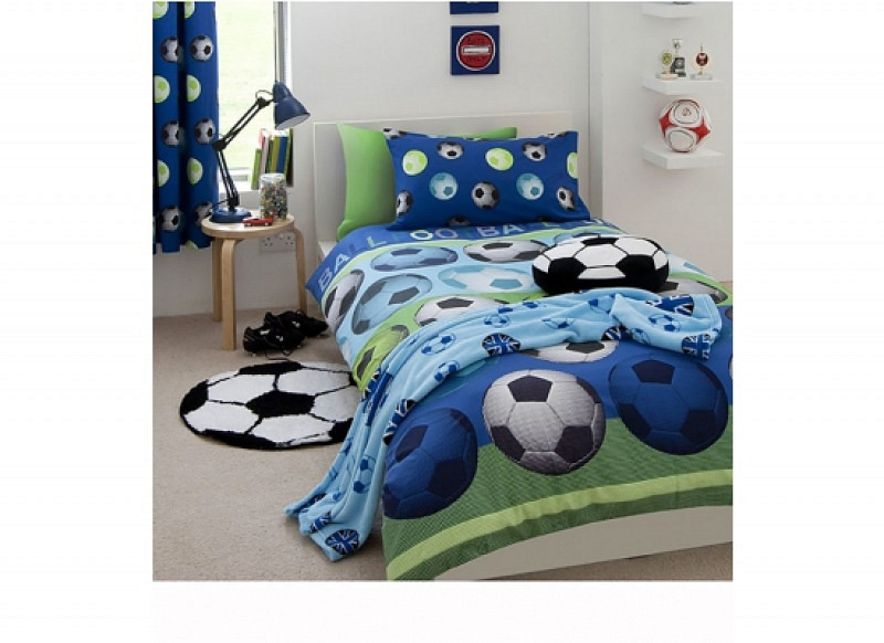 Bettwäsche Fußball blau