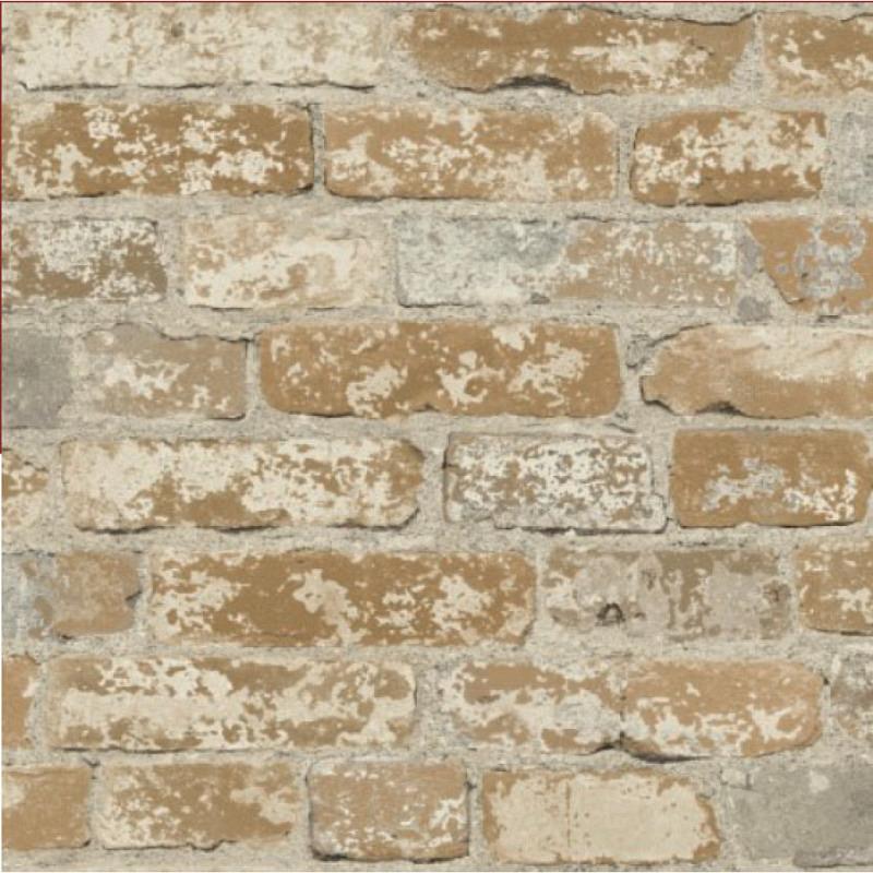 Tapete selbstklebend braune Steinwand