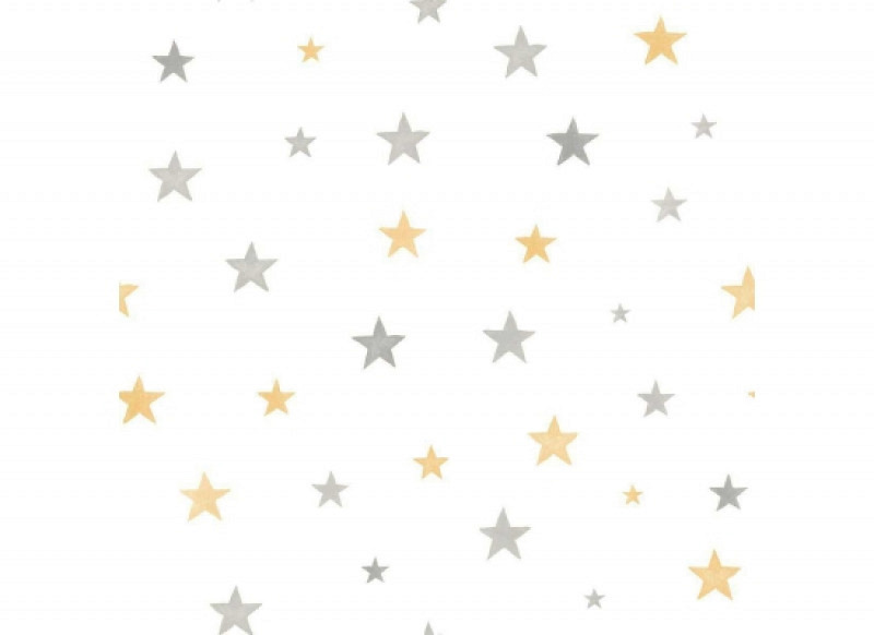 Ökotapete Sterne gelb