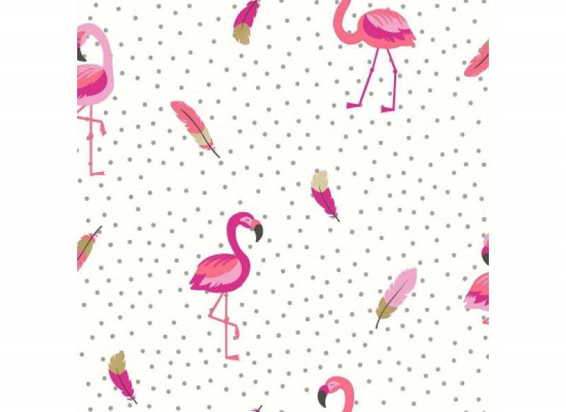 Tapete Flamingo pink weiß