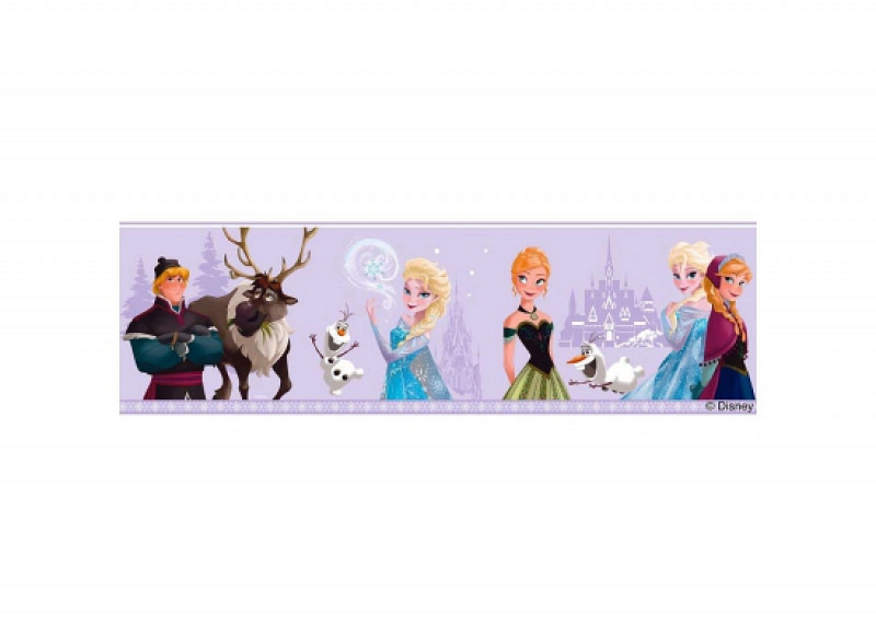 Bordüre Disney Frozen Winter lila