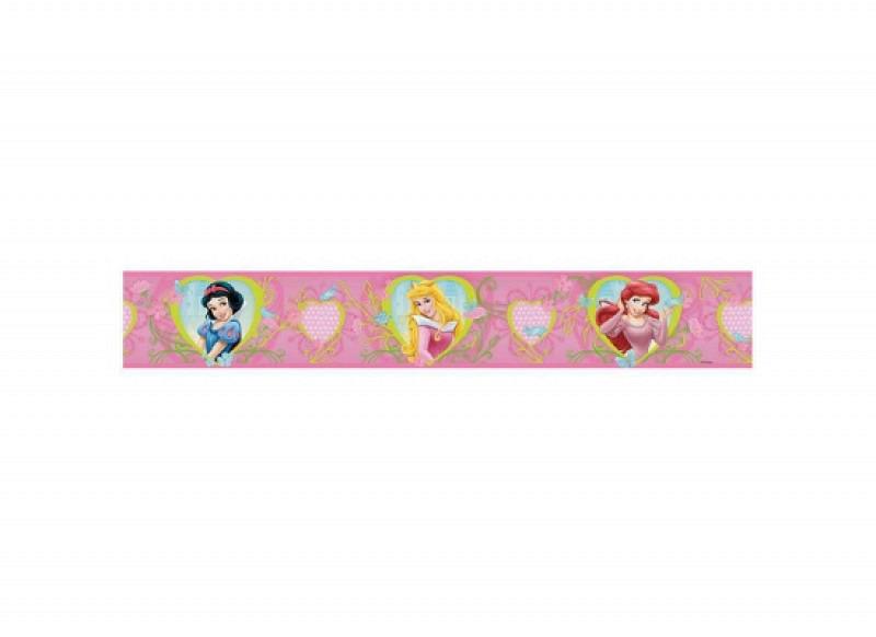 Bordüre Disney Princess Herz Blüten