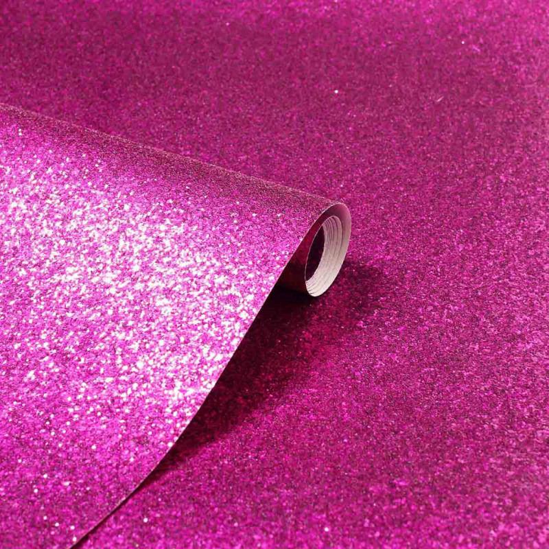 Vlies Tapete Glitter hot pink