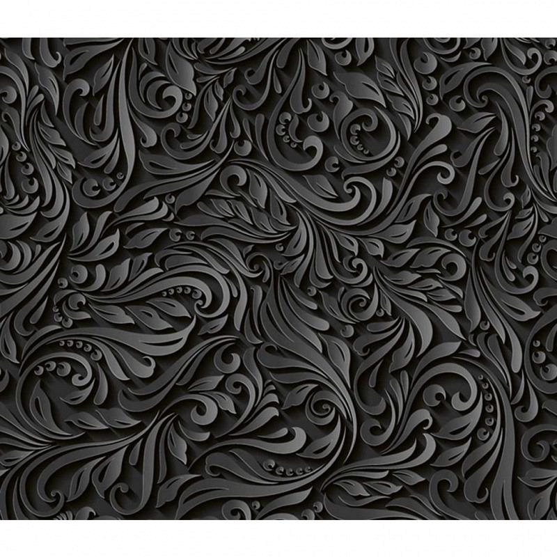 Vliestapete 3D-Optik Leave schwarz