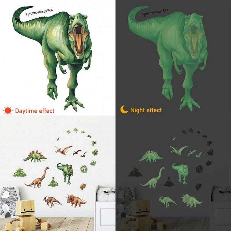 Wandsticker Dinosaurier leuchtend