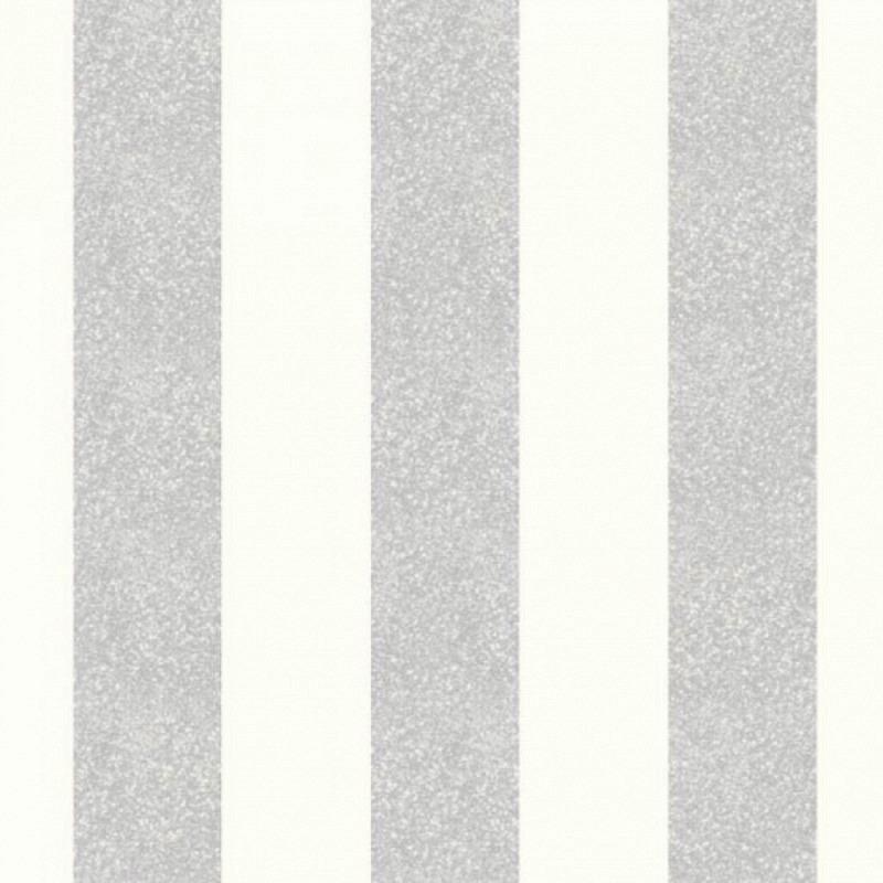 Vlies Tapete Glitterati Streifen Platinum