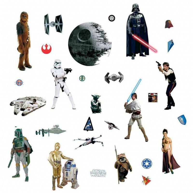 RoomMates Wandtattoo Star Wars Episode 4-6