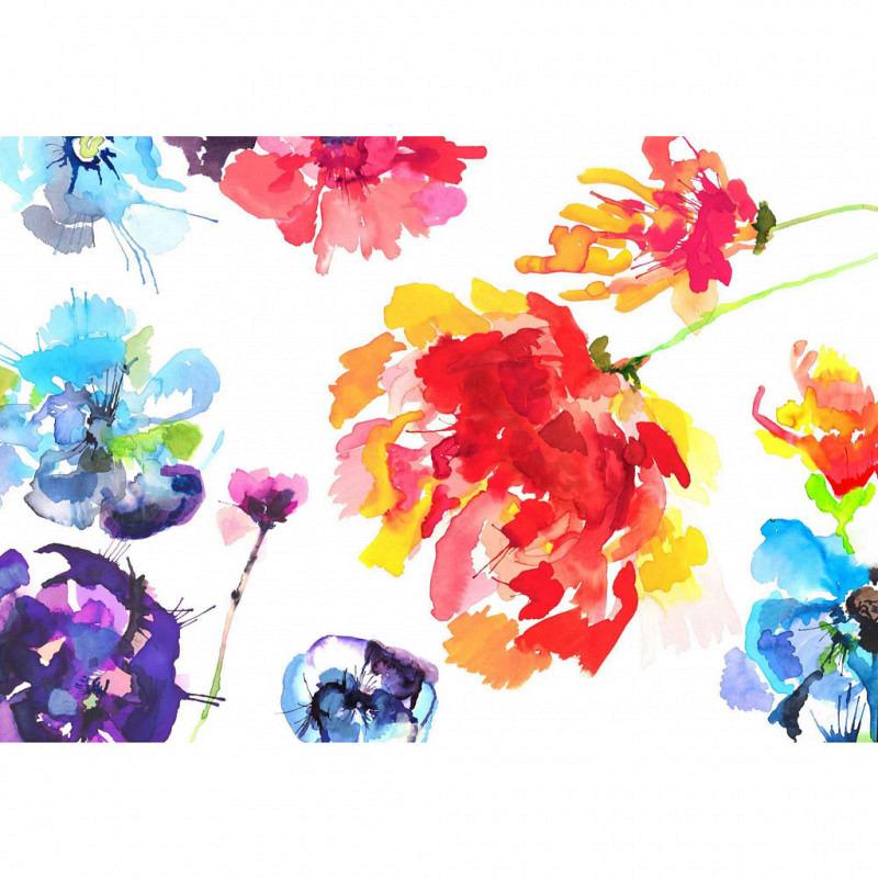Fototapete Blüten Aquarell