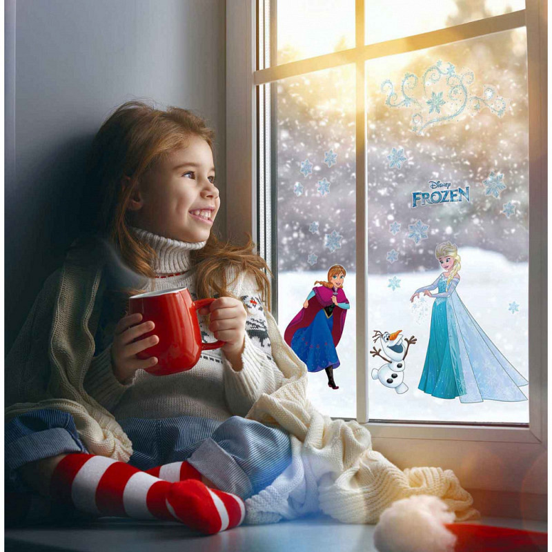 Fensterbild Disney Frozen Winter