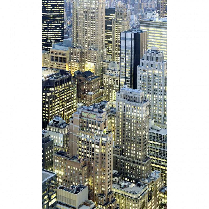 Vlies Fototapete Manhattan bei Nacht