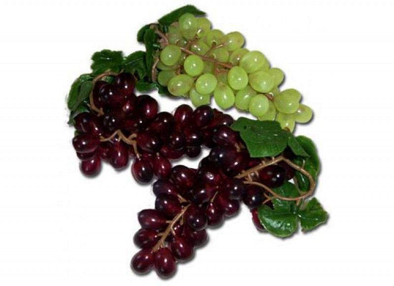 Deko-Weintrauben 14cm in grün Obst