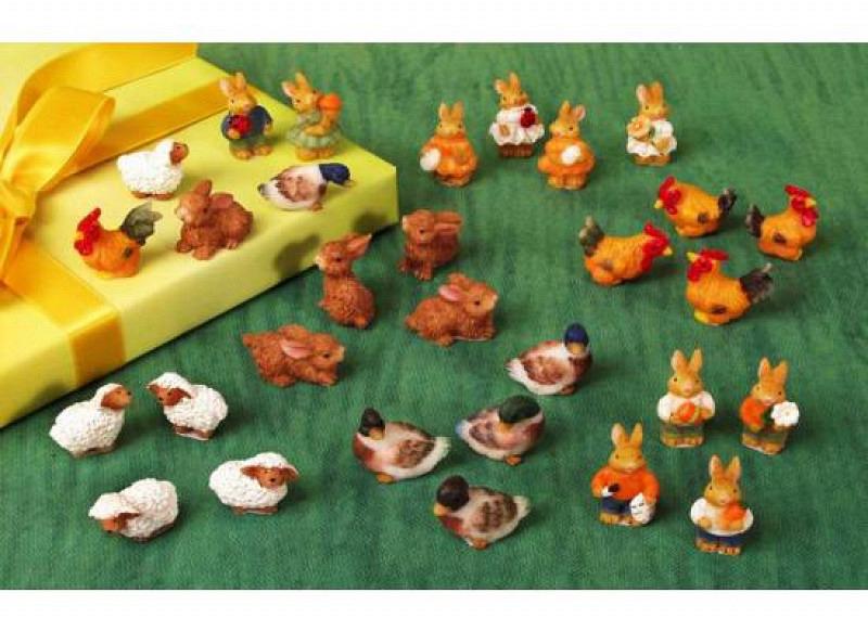Mini Oster-Tiere Schäfchen 5er Set