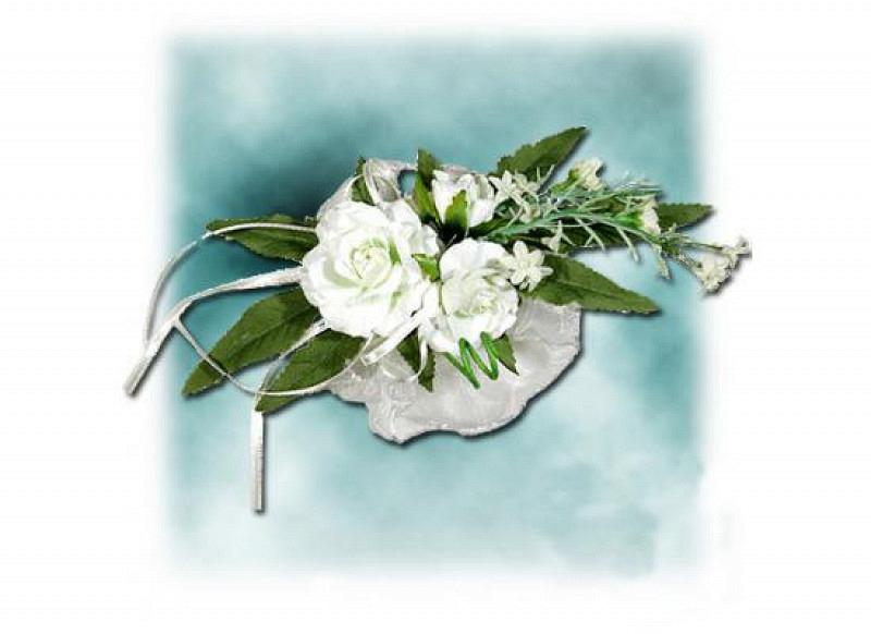 Tischkartenhalter Tischdeko Hochzeit creme 2er-Set