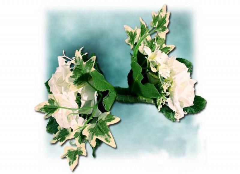 Hochzeits-Ansteckblume mit Magnet 4er-Set