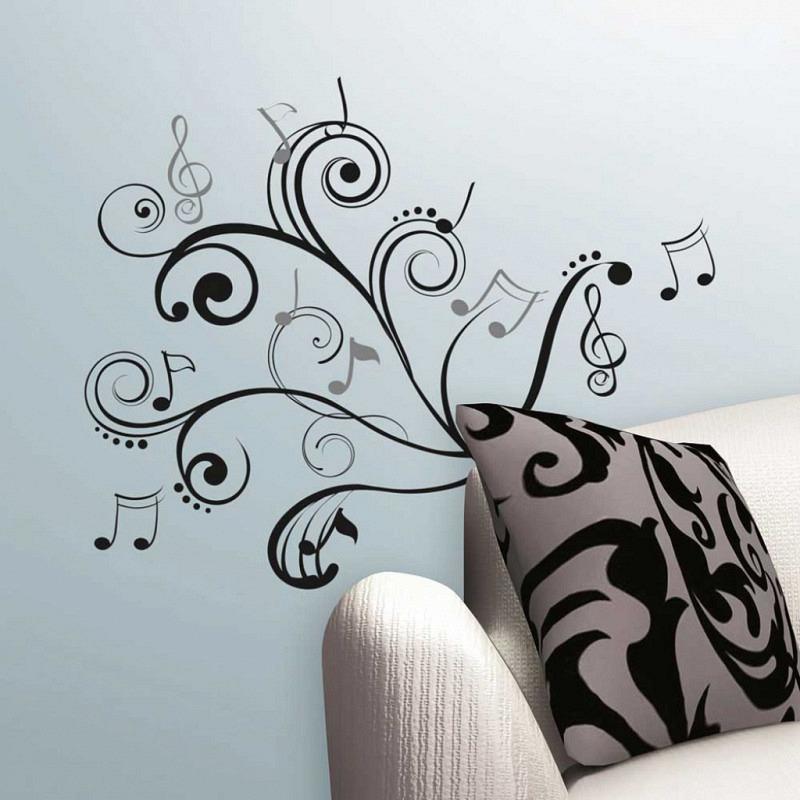 RoomMates Wandsticker Wandbild Musik Noten