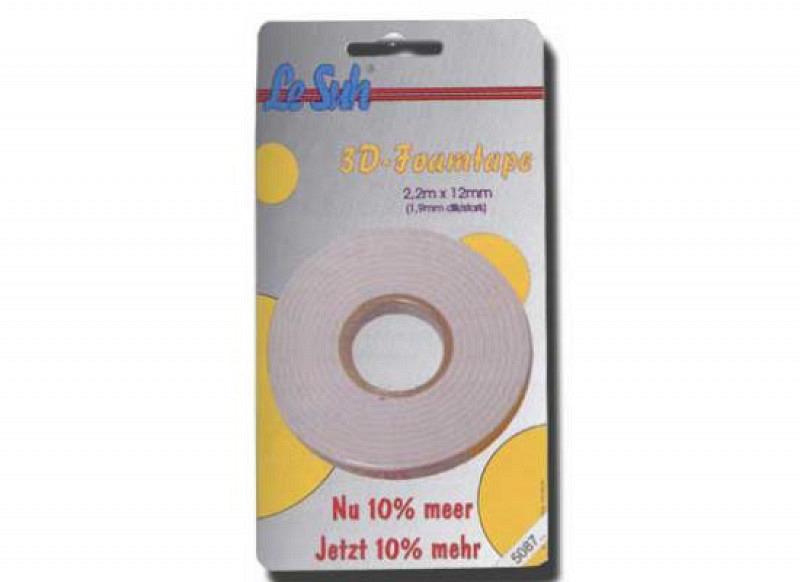 Schaumklebeband Le Suh Format 2,2m x 12mm x 1,9mm