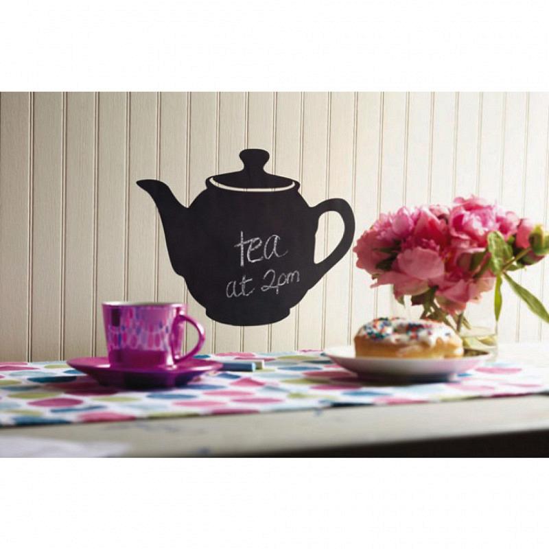 Wandsticker Kreidetafel Teekanne