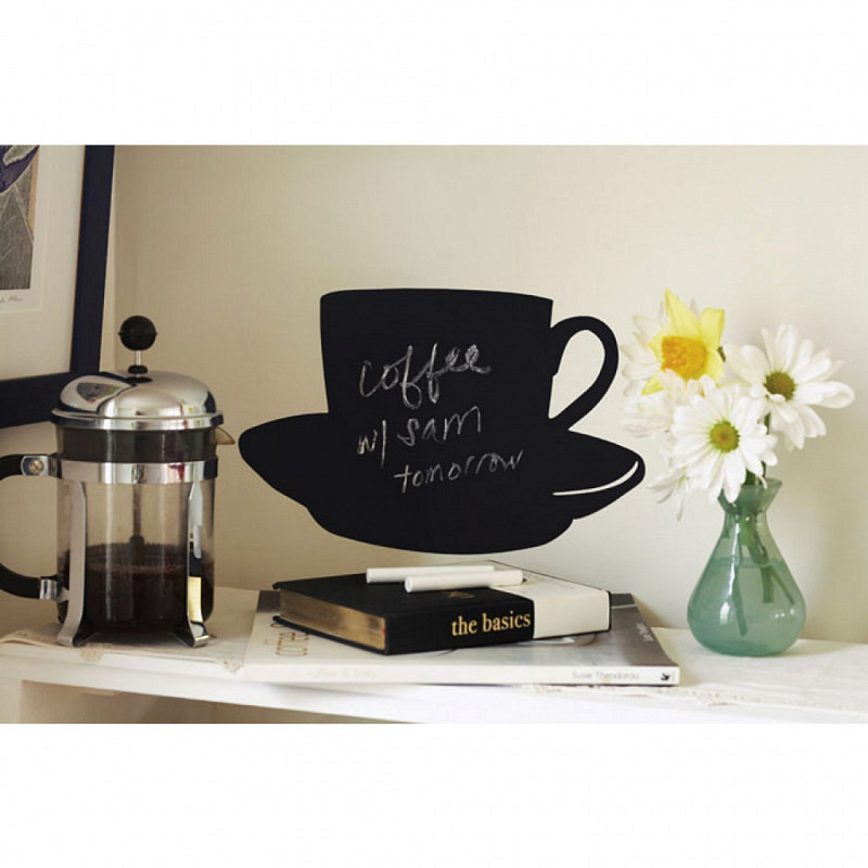 Wandsticker Kreidetafel Kaffeetasse