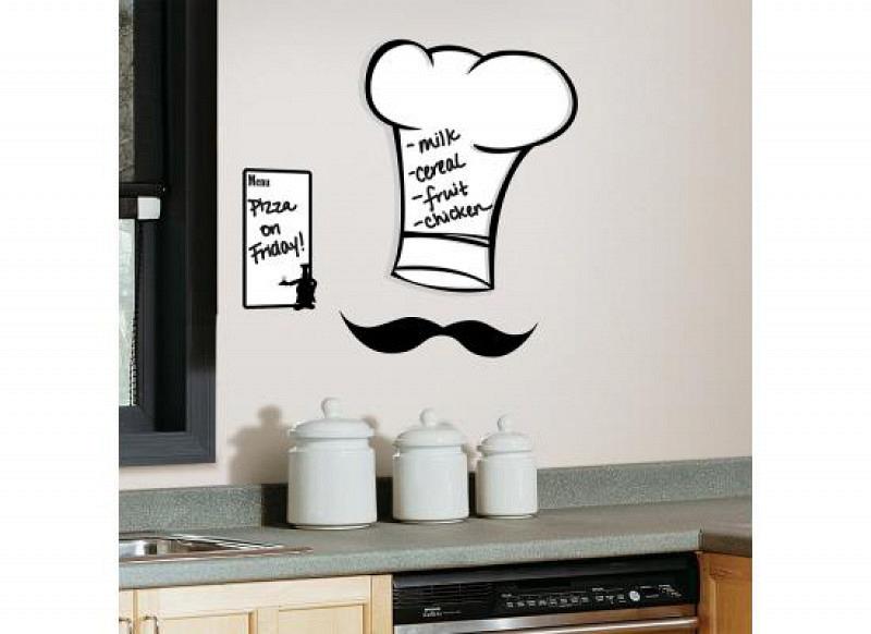 RoomMates Wandsticker Koch Speisekarte Memotafel