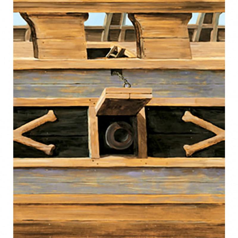 Piraten Tapeten Borte Bordüre Schiffsrumpf