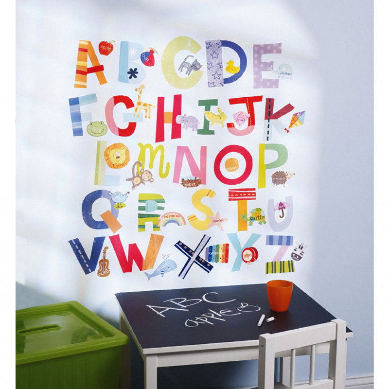 Wandsticker Wallies lustiges Alphabet