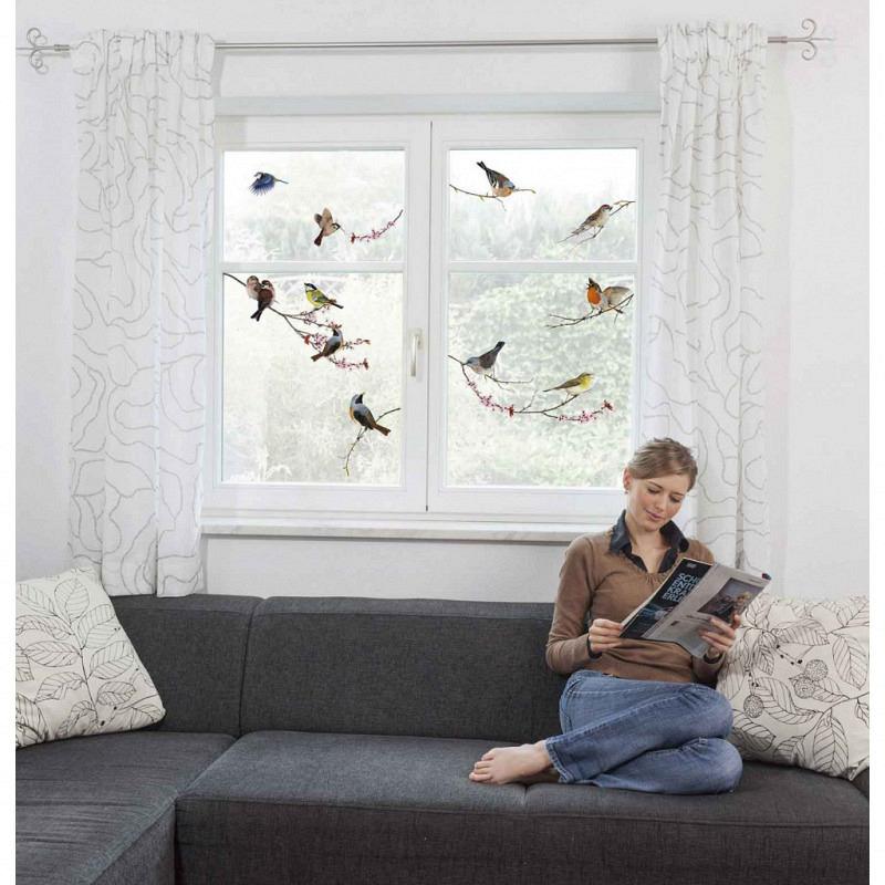 Fensterbild Singvögel