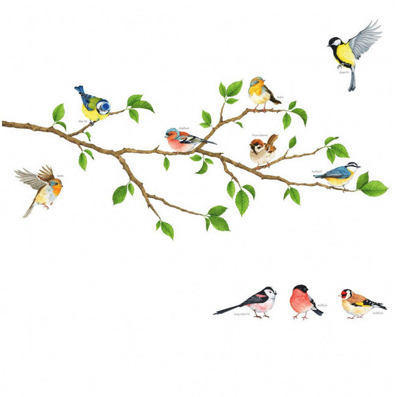 Wandsticker Gartenvögel
