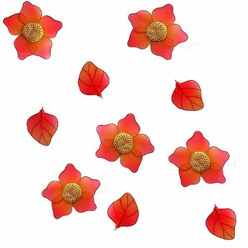 Blütengirlande Nylon orange 3er Set