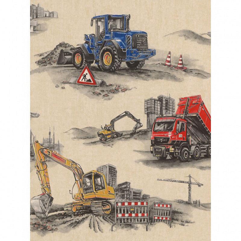 Tapete Baustelle Bagger Bulldozer