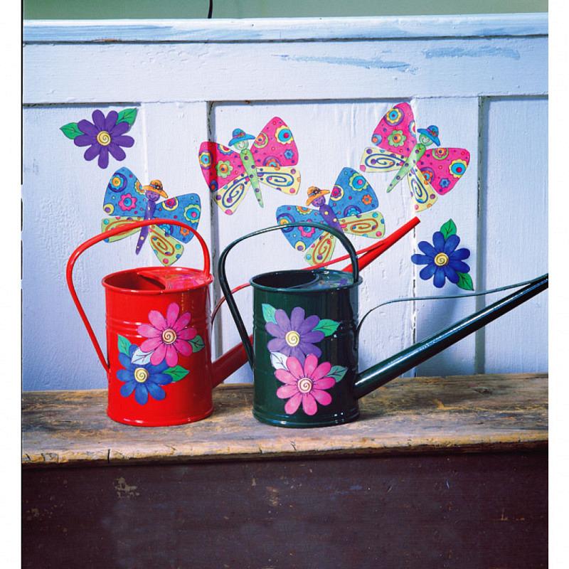 Wandsticker Wallies Schmetterlinge Blumen