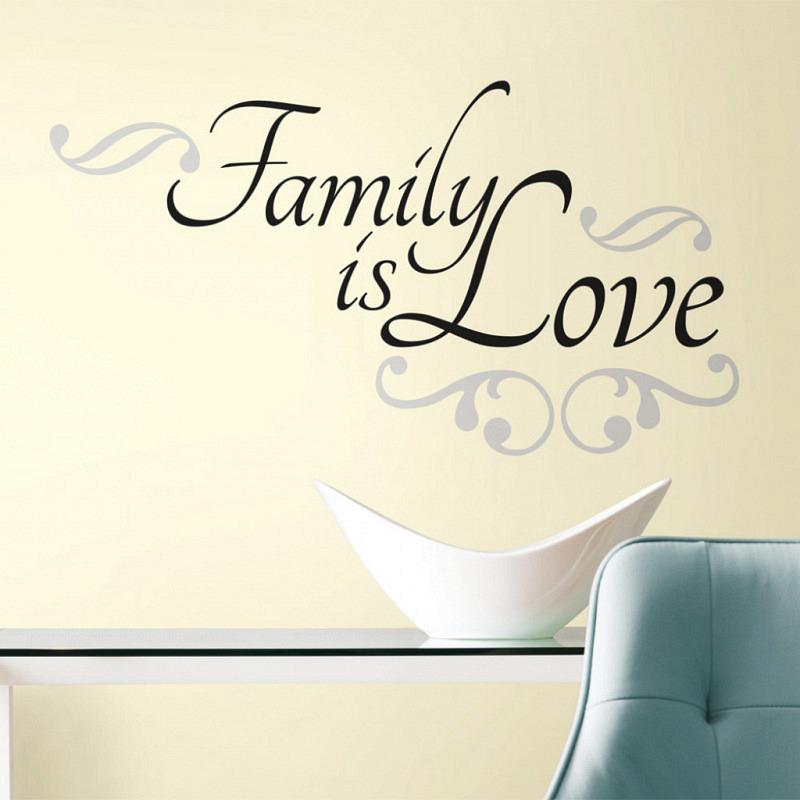 RoomMates Wandsticker Wandtattoo Family Is Love