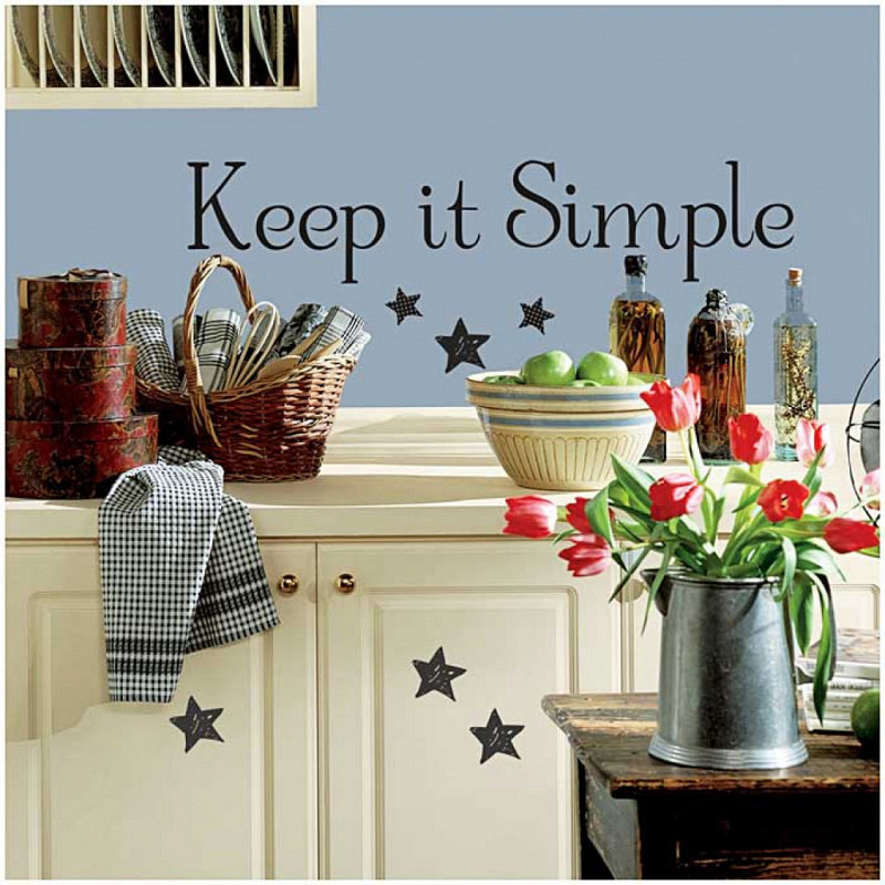 RoomMates Wandsticker Wandtattoo Keep It Simple