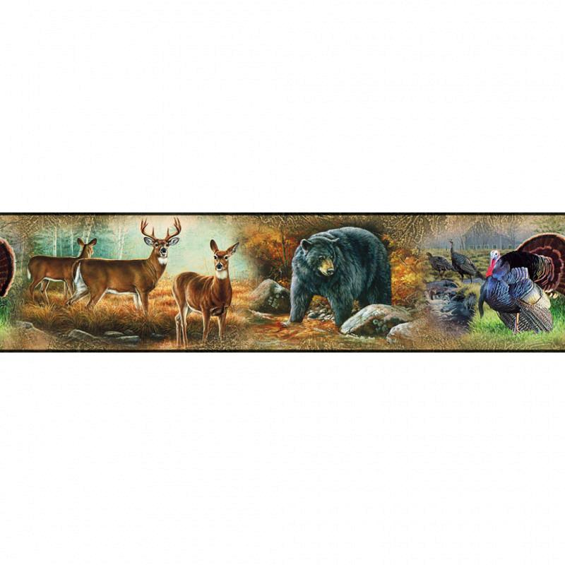 RoomMates Tapeten Borte Bordüre Wildlife in der Natur