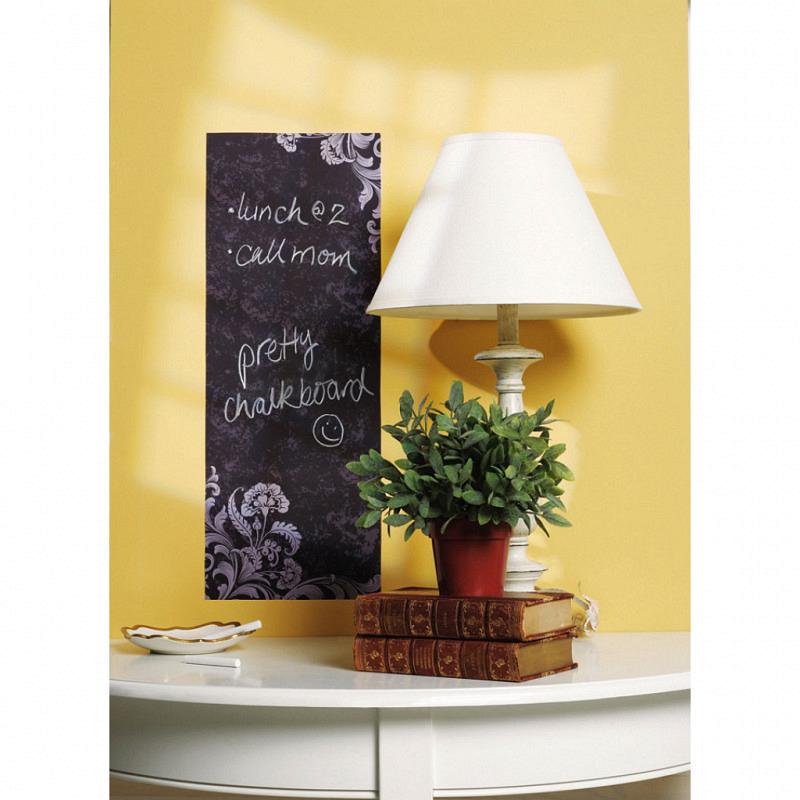Kreidetafel Tafelfolie Blumenornament