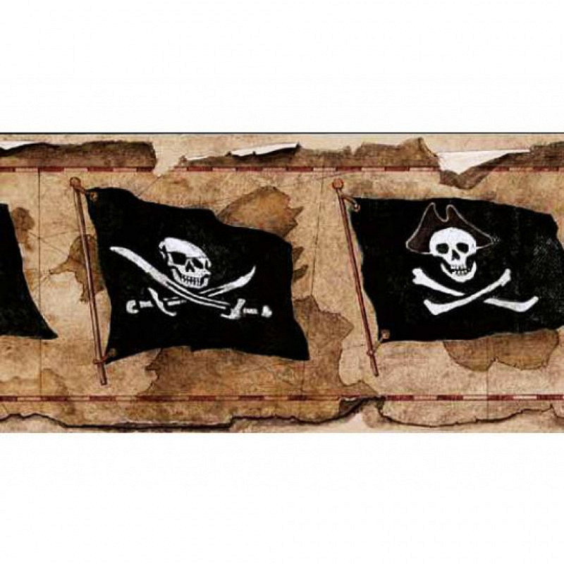 Piraten Kinderzimmer Bordüre Piratenflagge