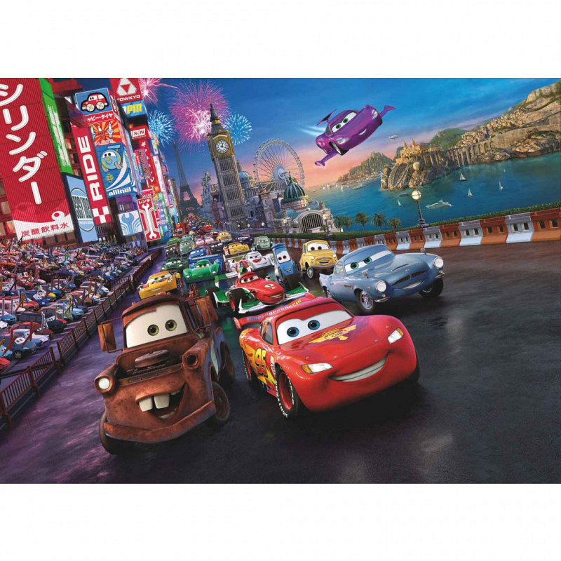 Fototapete Disney Cars Rennen