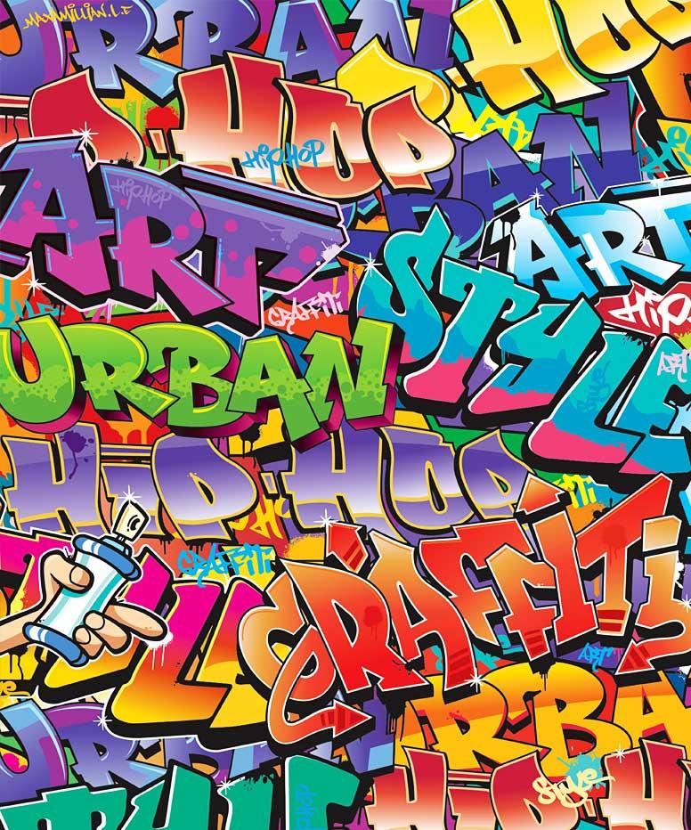 Fototapete kinderzimmer wandbild graffiti sprayer urban for Graffiti jugendzimmer