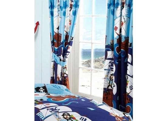 kinderzimmer gardine piraten schiff bettw sche. Black Bedroom Furniture Sets. Home Design Ideas